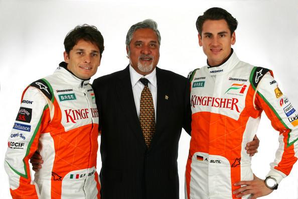Bijay Maliya with F1 racers