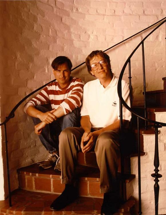Jobs with Bill Gates in 1991