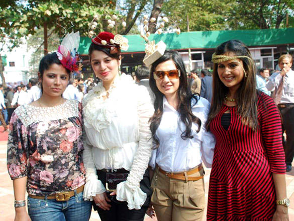 celebs at McDowell Signature Premier Indian Derby