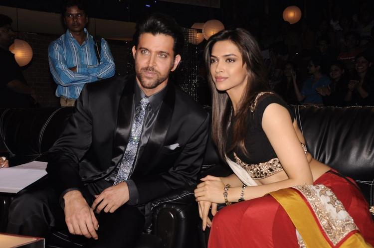 Deepika and Hritik on the sets of Just Dance Finale