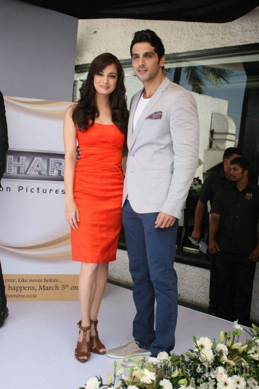 Dia Mirza & Zayed Khan at the Launch of Love Breakups Zindagi