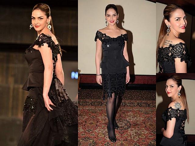 Esha Deol wearing design by Neeta Lulla