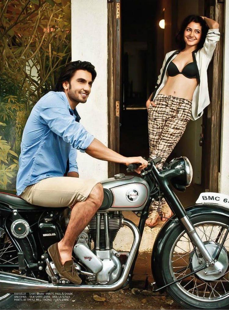 Hot Anushka Sharma with Ranveer Singh