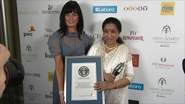 Guinness World honered Asha Bhosle