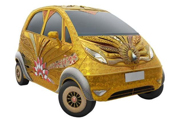 India's Most Expensive Car - Nano Gold