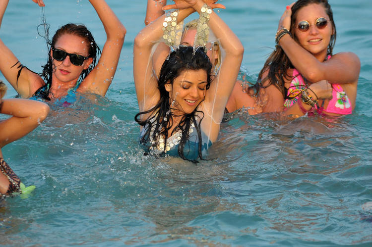 kajal agarwal Business Man Movie Swimsuit still