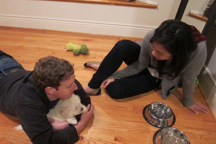 Mark Zuckerberg and Priscilla Chan having private time