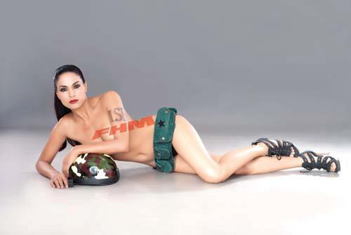 New Nude Photo of Veena Malik released by FHM