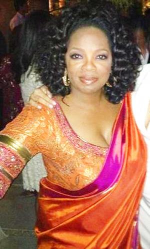 Oprah in Sari