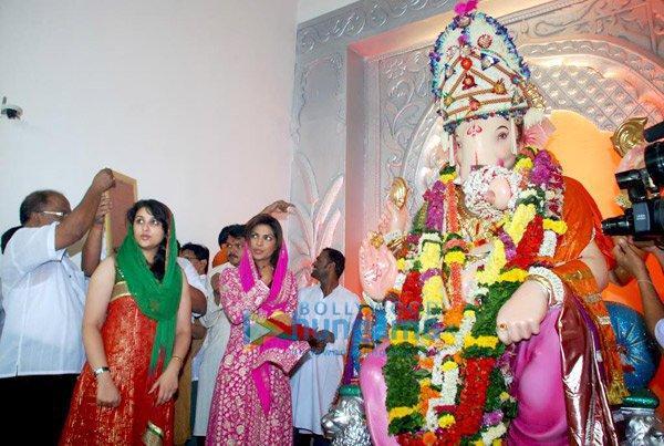 Parineeti Chopra with Priyanka at Ganesh Puja