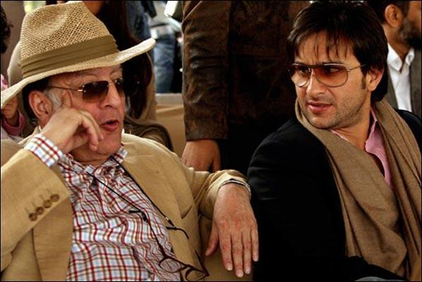Pataudi With Son Saif Ali Khan