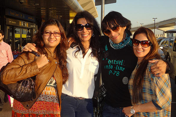 Pooja-Sky With Juhi and Sister