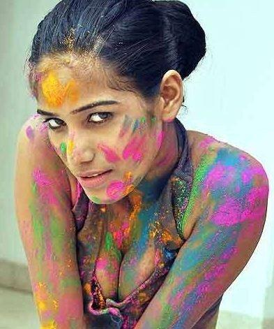 Poonam In Colorful Picture