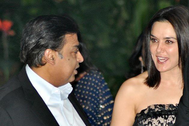 Preity Zinta & Mukesh Ambani