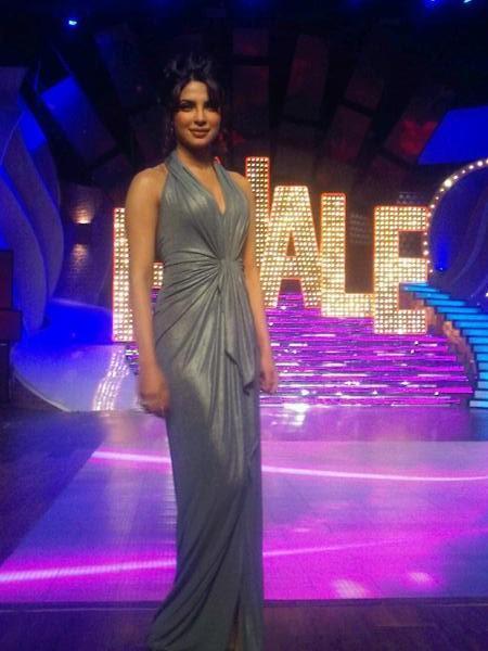 Priyanka Chopra on the Sets of Just Dance Finale