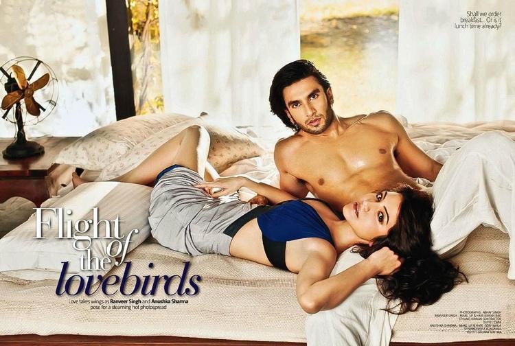 Hot Anushka Sharma with Ranveer Singh Photoshoot