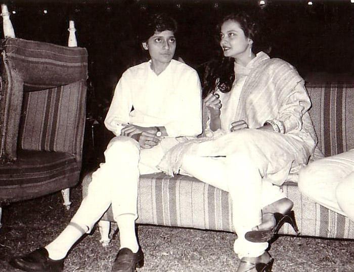 Rekha with Farzana (her secretary)