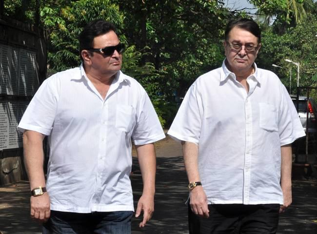 Rishi Kapoor & Randhir Kapoor pay tribute to Surinder Kapoor