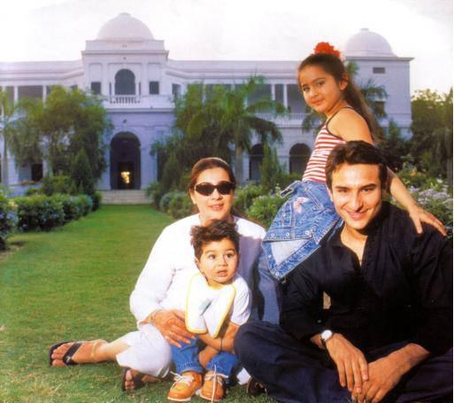 Saif With Ex Wife & Kids