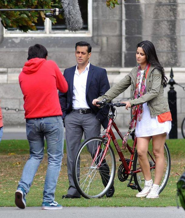 Salman Khan and Katrina Kaif at Trinity College, Dublin.
