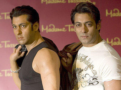Salman Khan wax model at madame tussauds