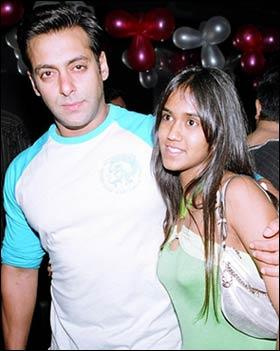 Salman with his sister Arpita