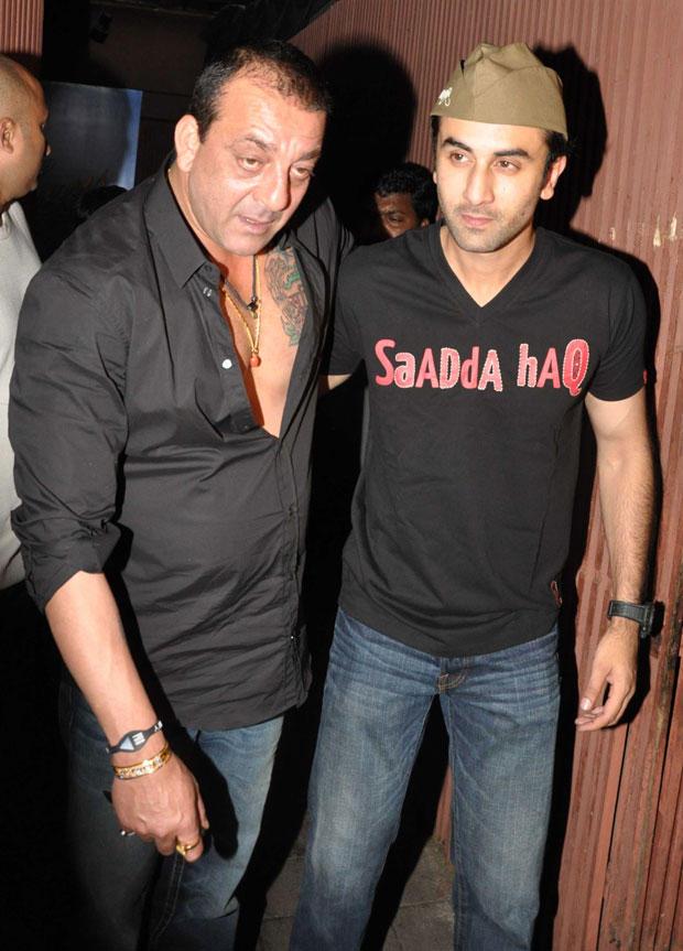 Sanjay Dutt at Ranbir's Birthday Bash
