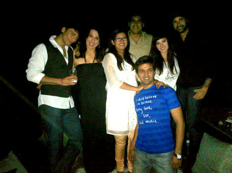 Pooja-Sky With Friends