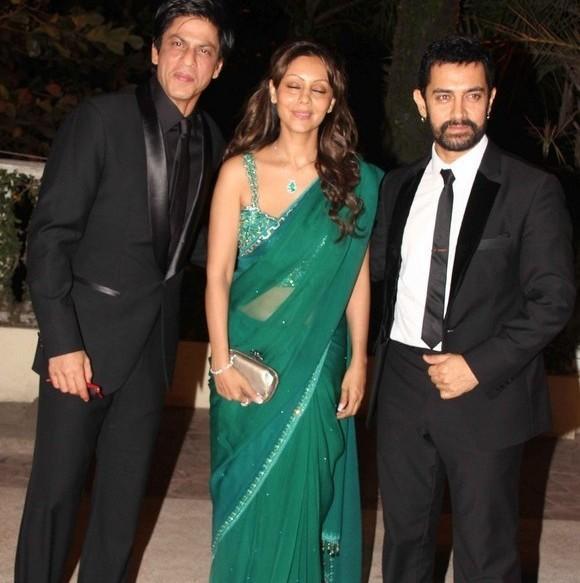 Shahrukh and Gauri at reception