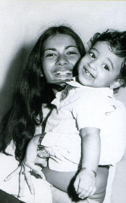 Step daughter Monica with son Vivek