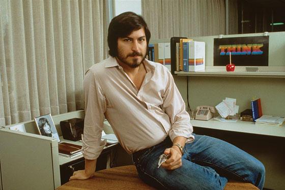 Steve Jobs at Work in 1980s