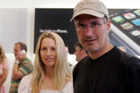 Jobs with Wife Lauren in 1997