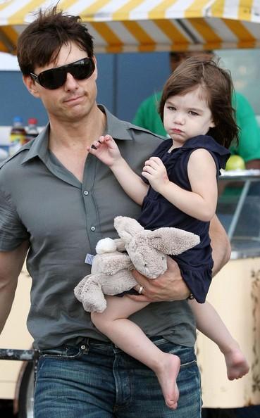 Suri with  Dad