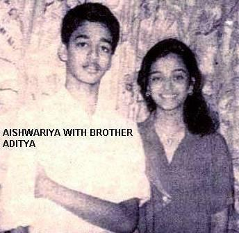 Aishwarya Rai With Brother Aditya