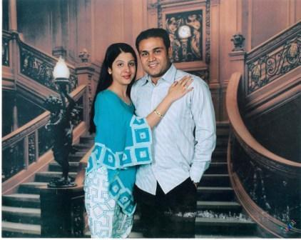 Virender Sehwag and Wife Aarti Photo Shoot