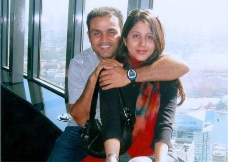 Virender Sehwag's wife on Holiday