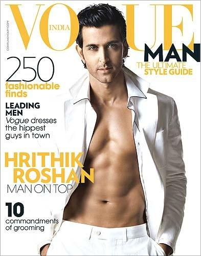 Hritik on Vogue Man