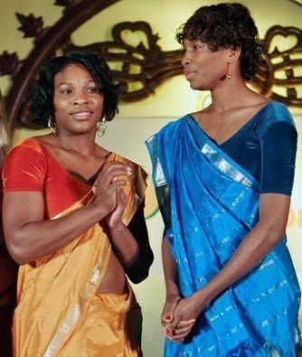 Serena & Venus Williams in Sari