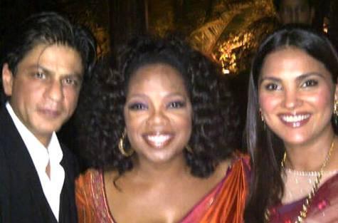 Oprah with SRK and Lara Dutta