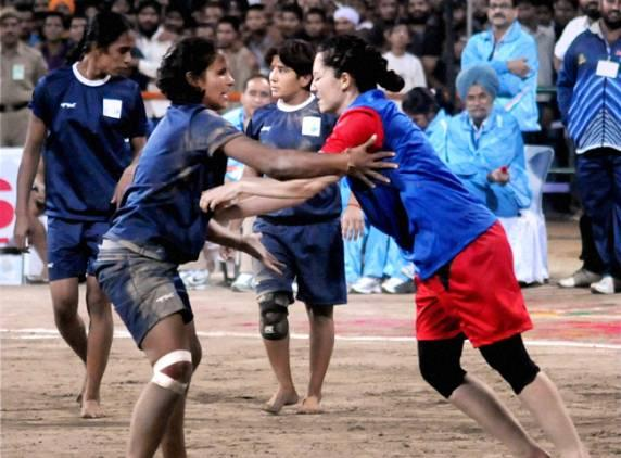 world cup kabaddi 2011 India and Turkmenistan teams In action