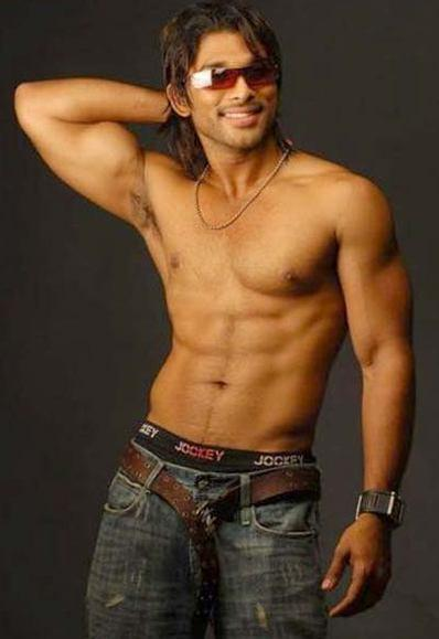 Allu Arjun sexy body six pack  still