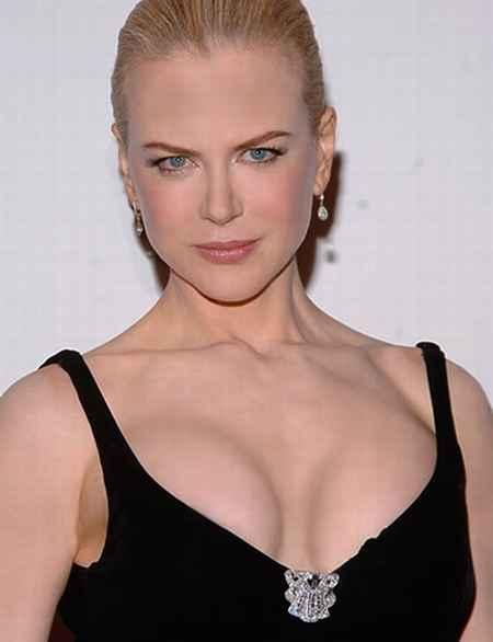 Sexy Nicole Kidman open cleavage show