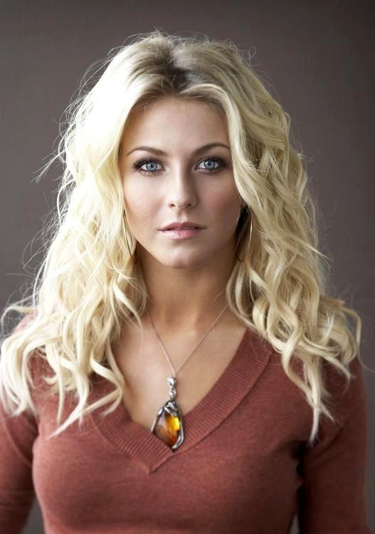 Julianne Hough white hair hot face look