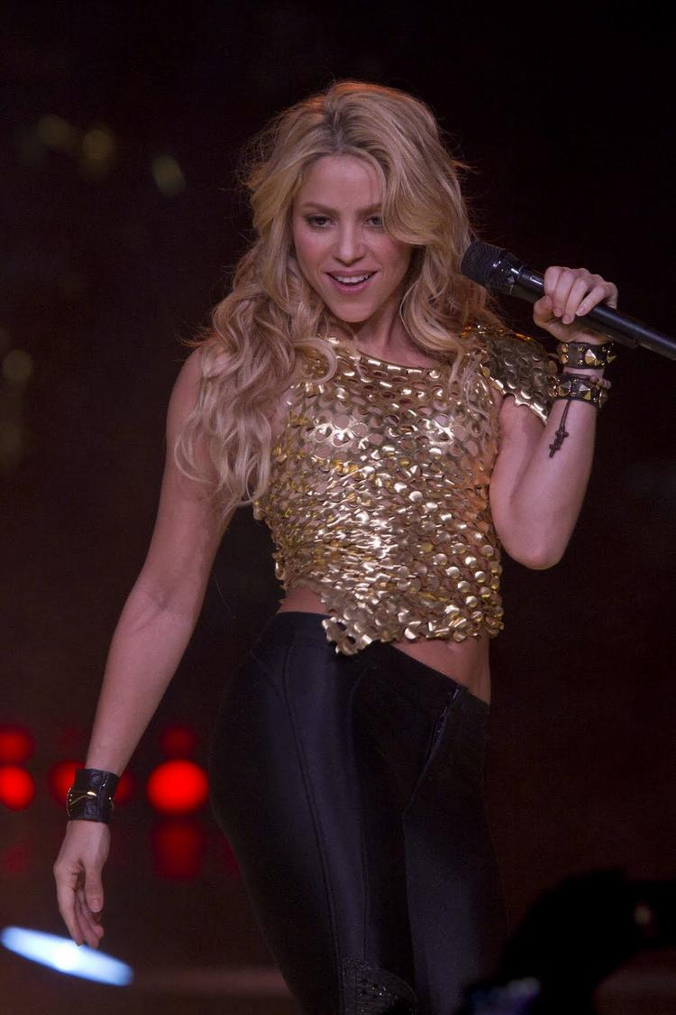 Shakira Live Performance At Madison Square Garden Beautiful Sizzling Singer Shakira Photos And