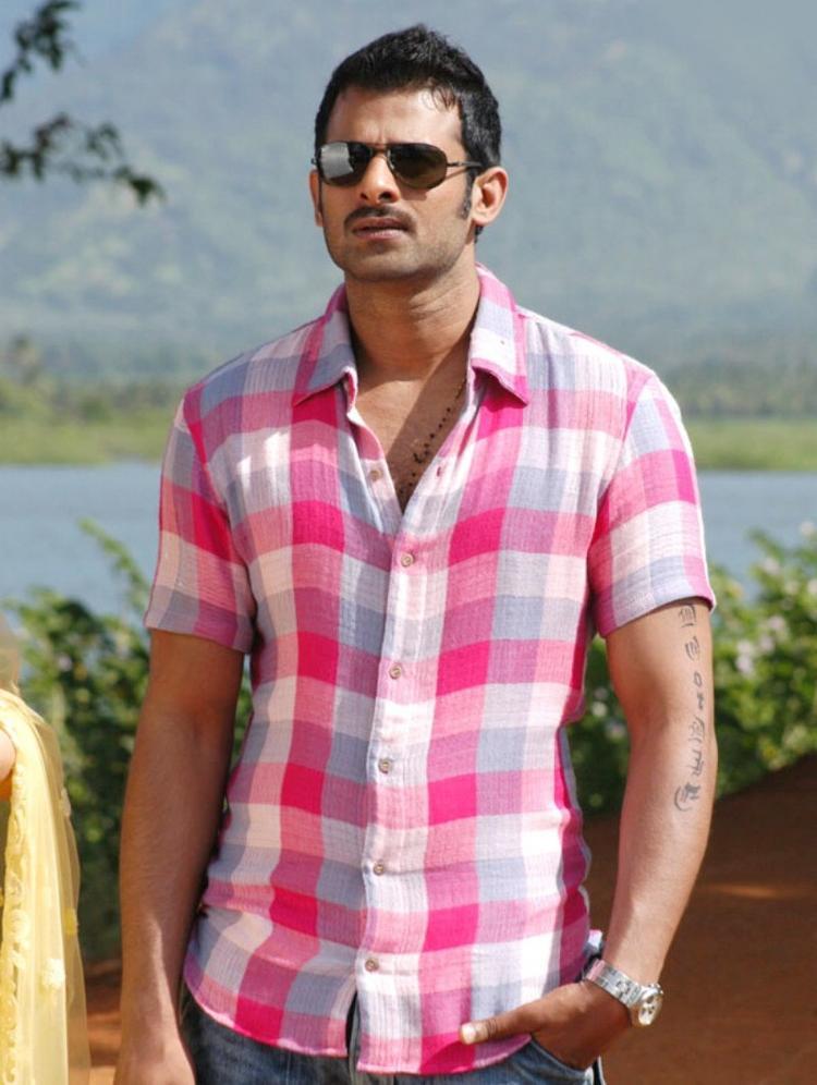 Prabhas Dual Color Shirt Beauty Still Telugu Sexiest Man Prabhas