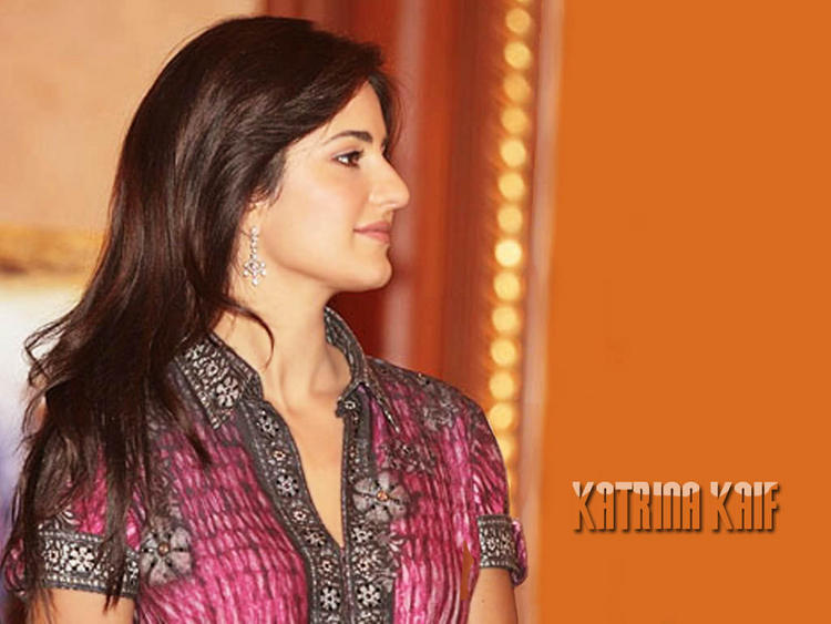 Katrina Kaif Beauty Side Face Wallpaper