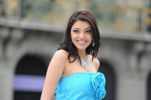 Kajal Agarwal in Sky Blue Dress, Kajal Agarwal Photo Gallery | Memsaab ...