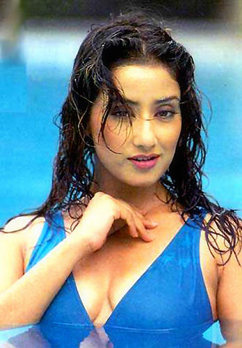 Manisha Koirala hot bikini wallpaper