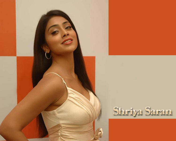 Shriya Saran hot bikini pose wallpaper