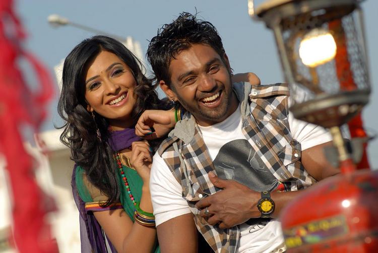 Radhika and Dhruv Addhuri Movie Fun Pic , Addhuri Kannada Movie